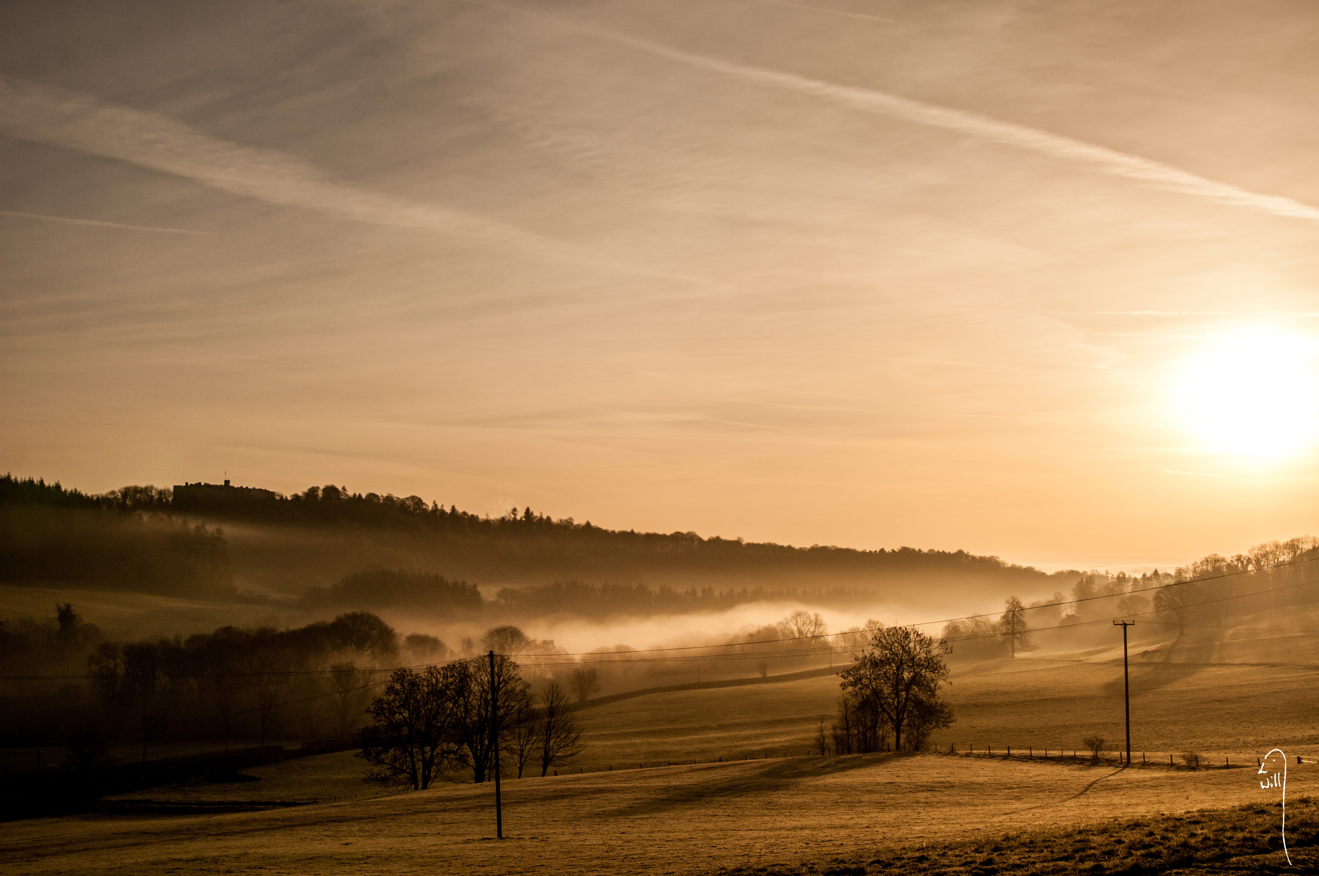 Dawn towards Chirk Castle