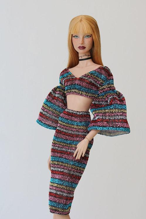 top & skirt (2 pieces)