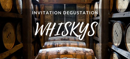 INVITATION DEGUSTATION WHISKY