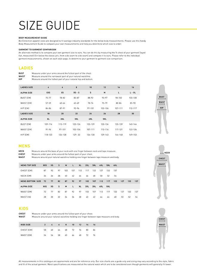 2020+Biz+Collection+-+Size+Guide_Garment