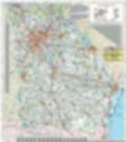 bike map, cycling in georgia, state roads