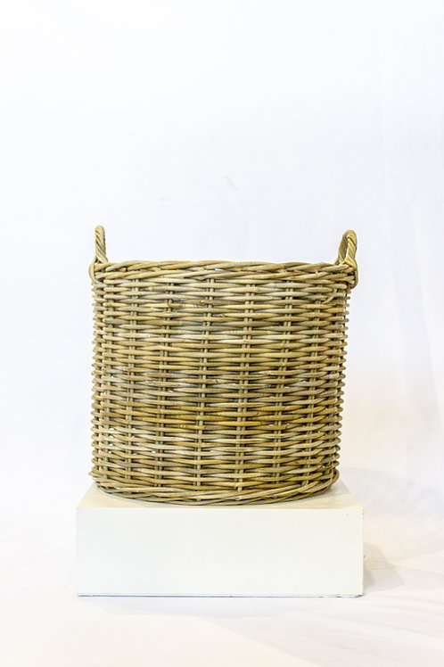 Medium Round Rattan Basket with Handles