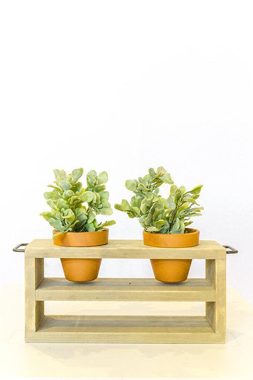 Double Tier Terracotta Pot Holder