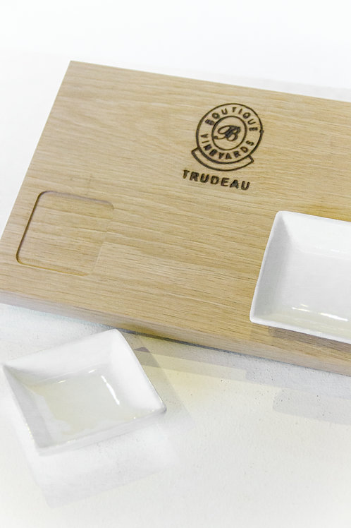Tapas Chopping Board with 2 Dishes