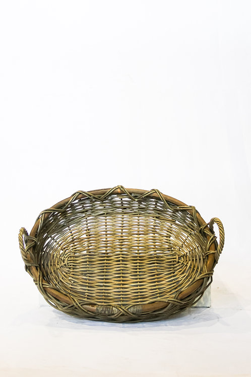 Thick Oval Rattan Fruit Tray