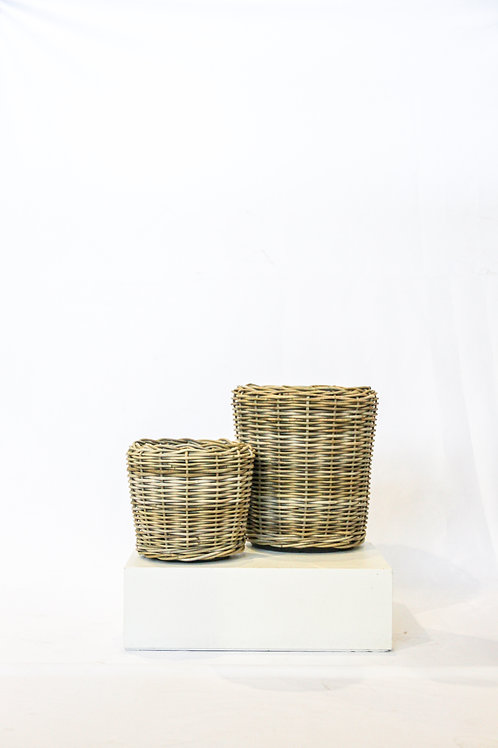 Large Rattan Planter with Lined Inner 30l