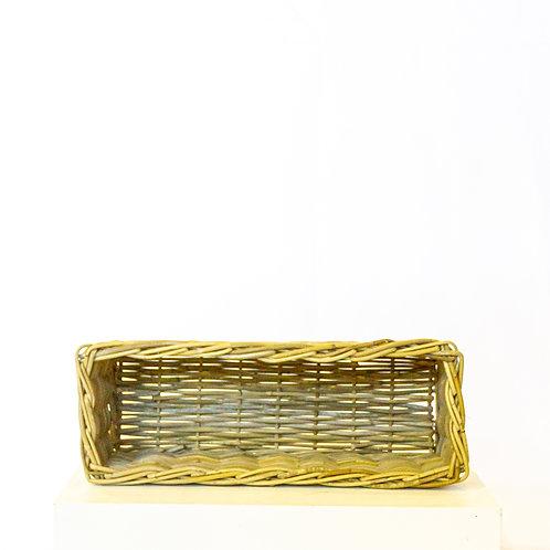 Rattan Rectangle Basket - No Handles
