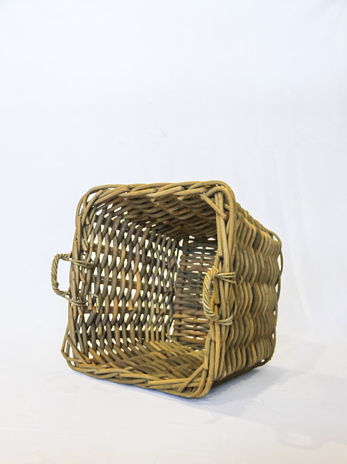 Large Thick Rattan Planter - Square