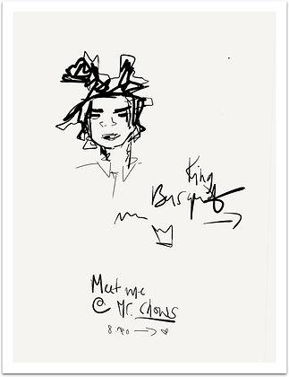 KING BASQUIAT - Hommage à Basquiat 27 x 35,3