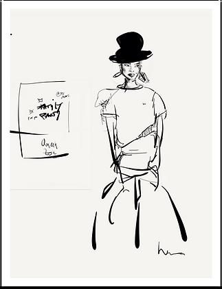 QUEEN ZOE - Sketch -  Fine Art Print 27x35,3 - Inspiring Women 2020