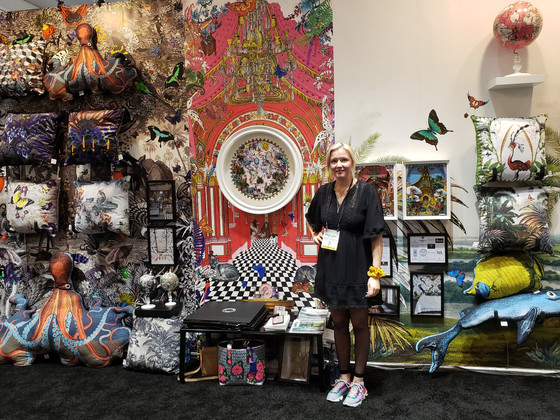 Kristjana S Williams debuted her intricate collage-design decor at ICFF
