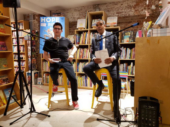 Andrew Shaffer's Brooklyn 'Hope Rides Again' book tour stop starred a special 'Obama