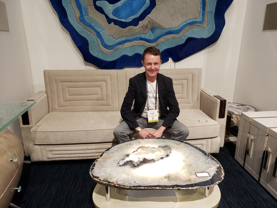 Roric Tobin Designs debuts at ICFF with geode-inspired furniture