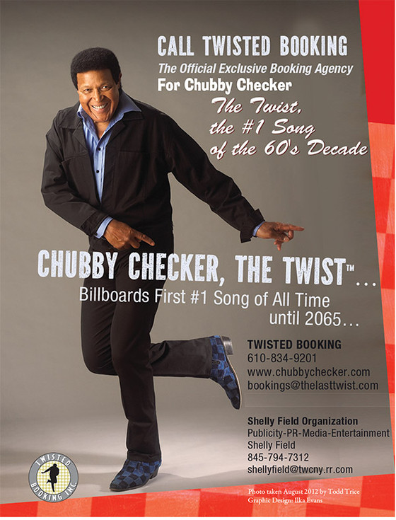 Chubby Checker a smash hit at his Twisted Booking booth at APAP