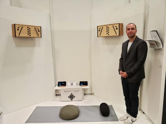 Magnetic Sound installs immersive 'sound sculpture' at ICFF