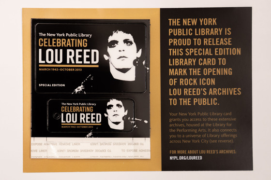 New York Public Library celebrates Lou Reed Archive with special edition library card