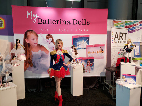 My Ballerina Dolls come to life at Toy Fair