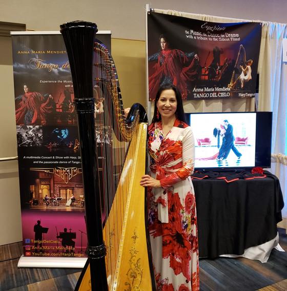 Anna Maria Mendieta brings tango to harp music