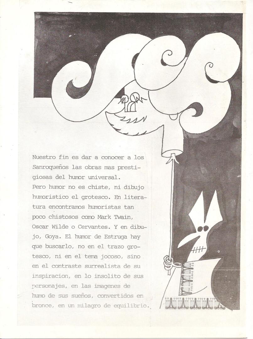 Fundación Vázquez de Sola. San Roque, 1979. texto Vázquez de Sola sobre Estruga