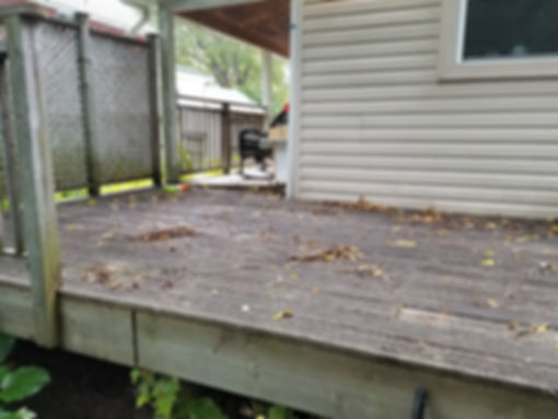 old deck thats going t look great when repaired