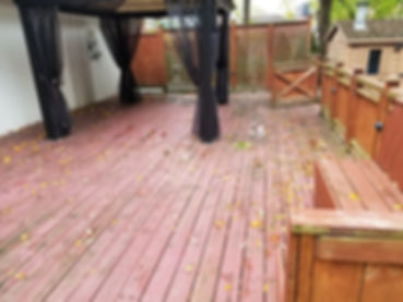 old rotted deck