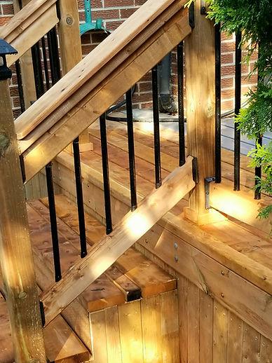new deck stair case