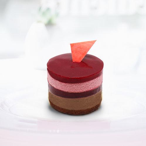 Málnás-csokoládés mousse