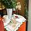 Thumbnail: Yılbaşı çiçeği nakışlı keten peçete (4'lü )
