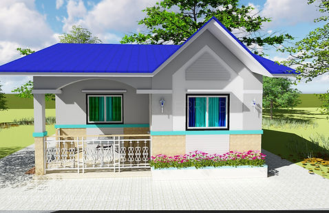 BUNGALOW HOUSE DESIGN WITH 3 BEDROOM