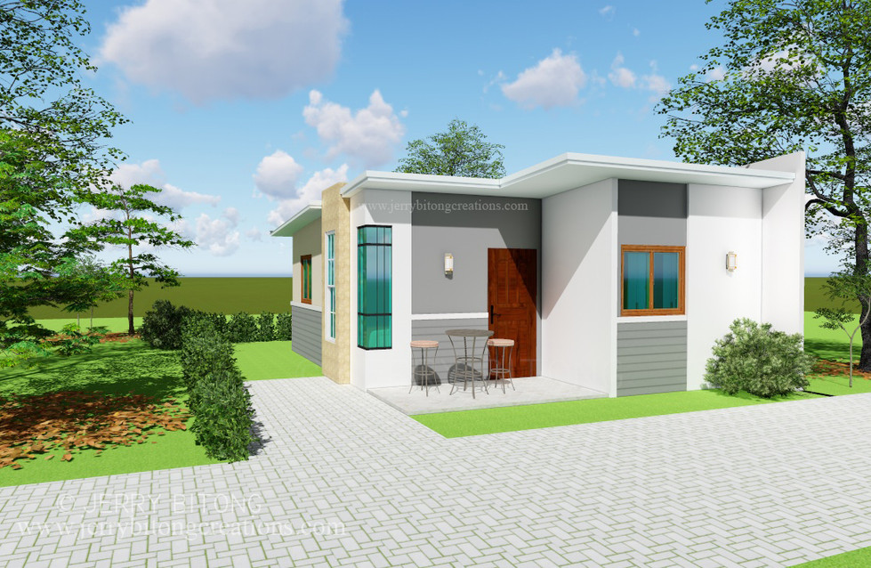 Modern House  Design with 2 Bedrooms 5.j