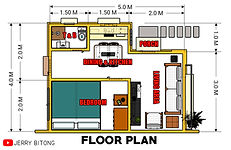 Small House Design (20 sq.m.) with 1 Bedroom