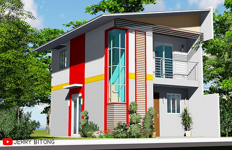 Two Storey House Design with 3 Bedrooms