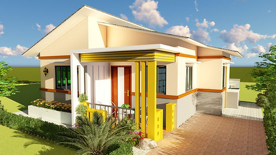 Two Bedroom Modern Bungalow House Design