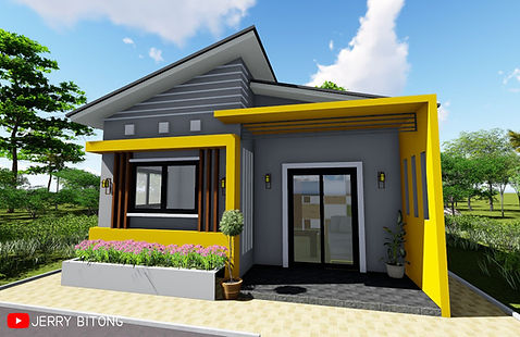 Small House Plan of 48 sq.m. with 2 Bedrooms