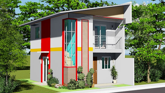 Two Storey House Plan & Design with 3 Bedrooms