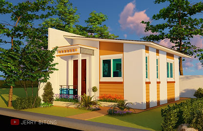 Small House Plan of 20 sq.m. with 1 Bedroom