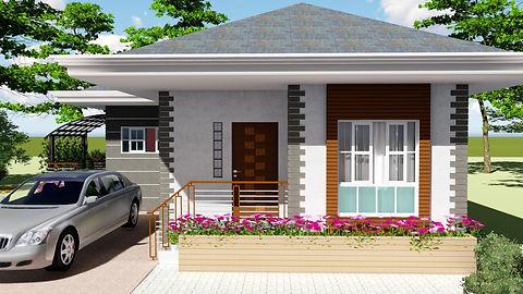 2 BEDROOM MODERN BUNGALOW HOUSE DESIGN 6