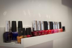 Range of OPI and Gelish polishes available.