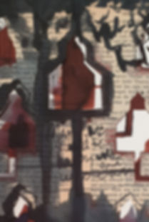 Community-(detail)-mixed-media-on-paper.