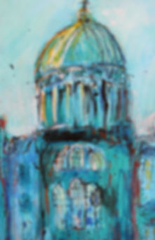 West Register House. Acrylic, ink and pa