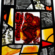 Mother and Child, stained glass panel, 2014