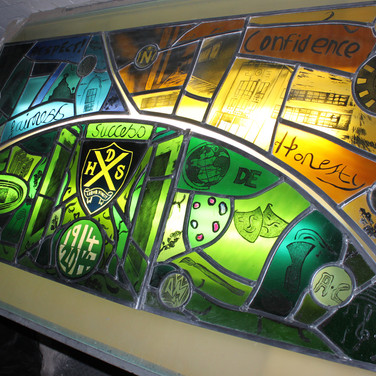 Centenary Panel (before installation), Dalkeith High School, Midlothian, 2016