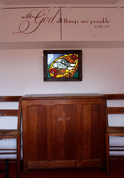 Loaves and Fishes panel in situ.JPG