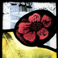 Briar Rose I, stained glass panel, 2019