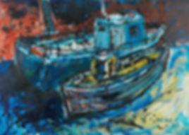 Port Seton Fishing Boats, acrylic.jpg