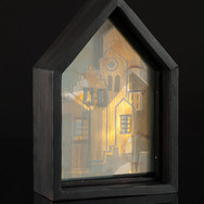 Old Edinburgh II (reverse), stained, sandblasted and layered glass, 2018 (image credit Gordon Bell)
