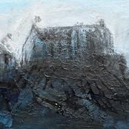Castle Study VI, mixed media on paper, 19cm x 15cm