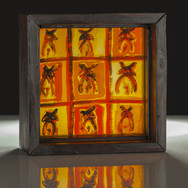 Summer Shadows, etched, painted and layered stained glass, 2013 (image credit Gordon Bell)