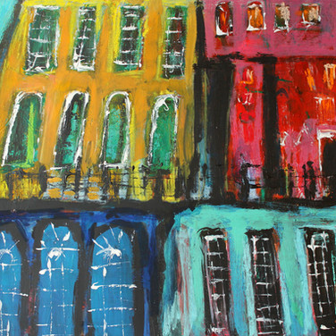 Victoria Street, acrylic on card, 100cm x 70cm