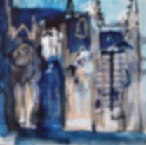 Edinburgh study iii Collage with ink and